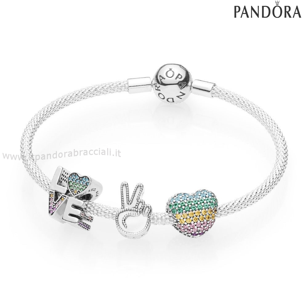 Offerte Pandora Amore The Rainbow Bracciali Set