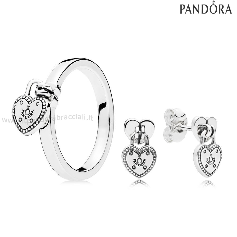 Offerte Pandora Amore Lock Anelli And Earring