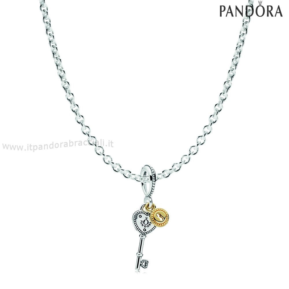 Offerte Pandora Chiave To My Cuore Necklace Regalo
