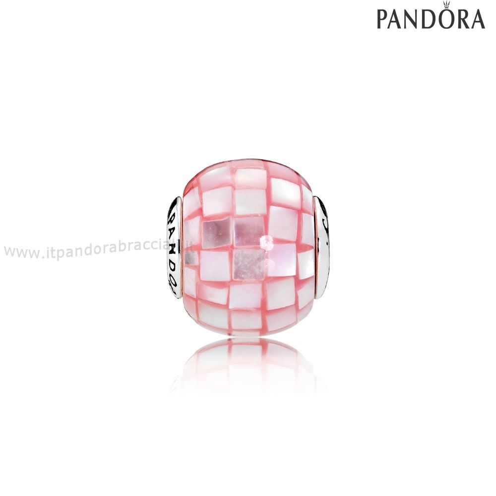 Offerte Pandora Essenza Compassione Charm Rosa Mother Of Pearl Mosaic