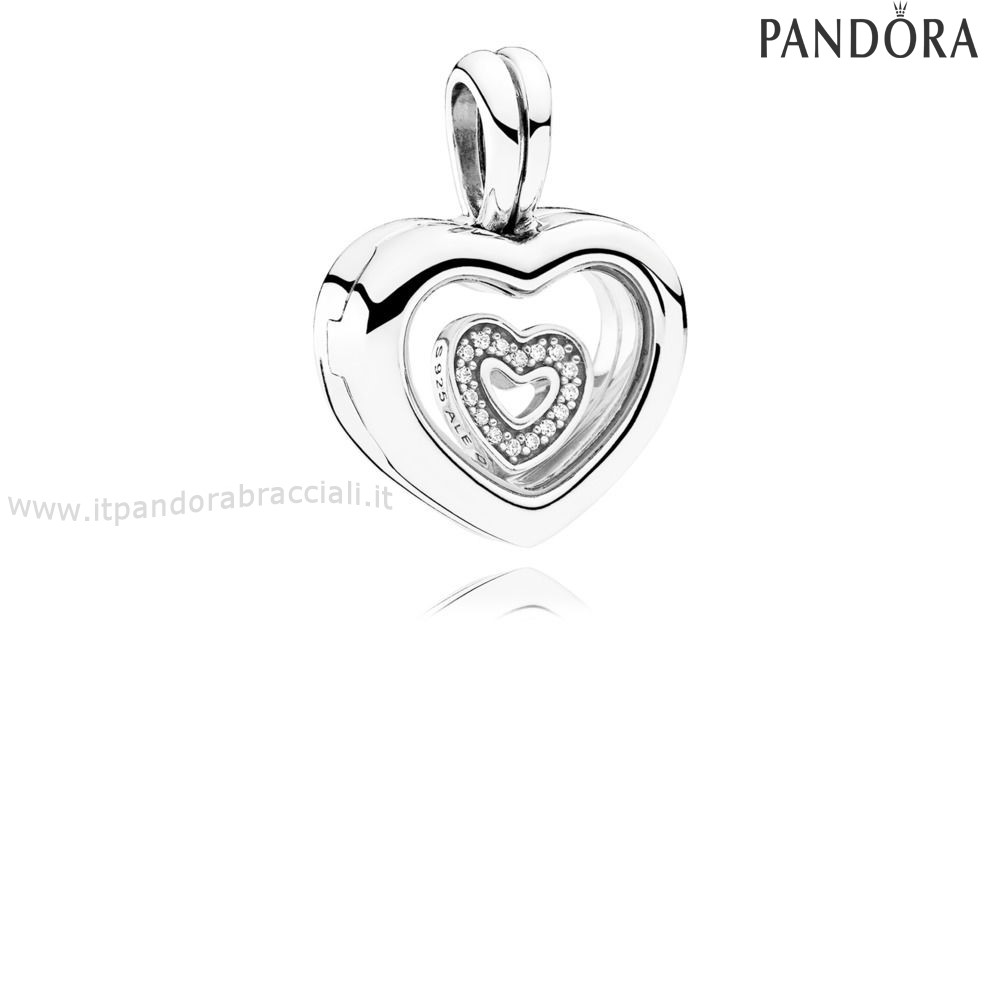 Offerte Pandora Floating Cuore Locket