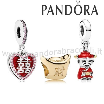 Offerte Pandora Happiness Fortune And Luck Charm Pack