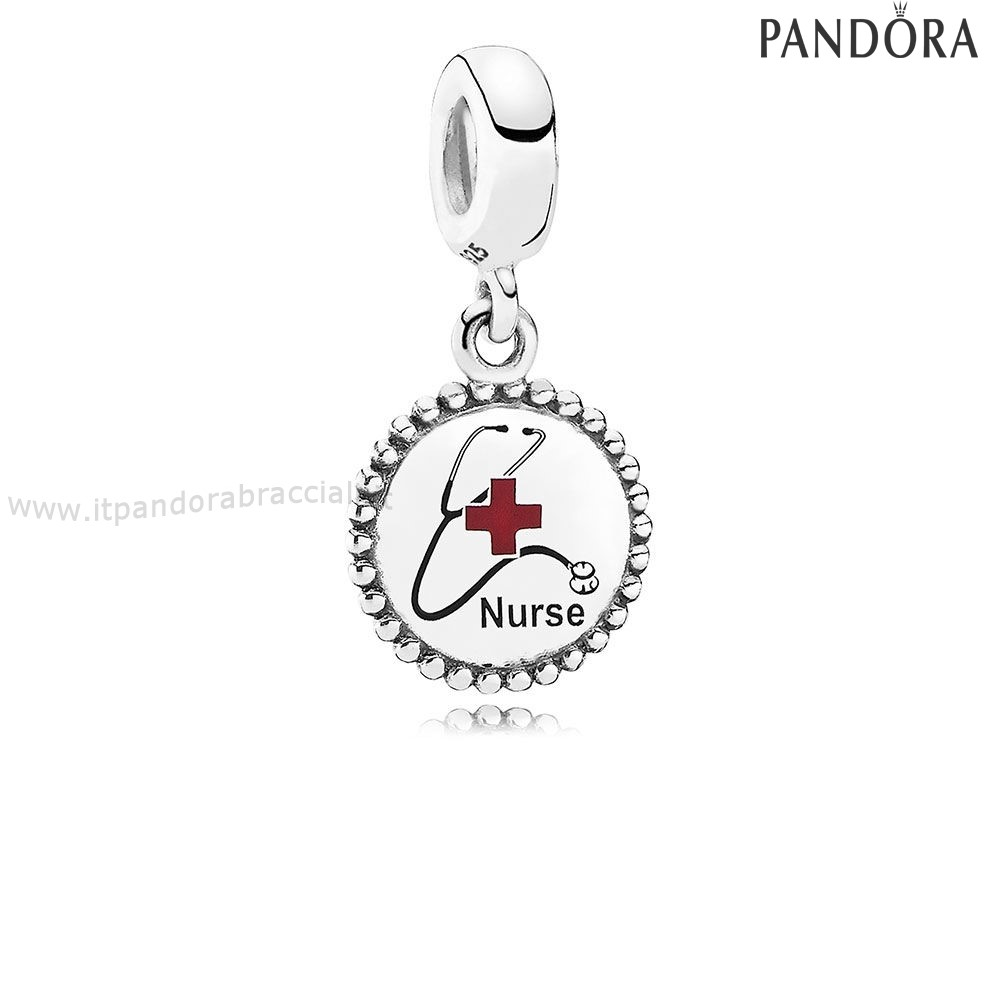 Offerte Pandora Nurse Dangle Charm Mixed Enamel