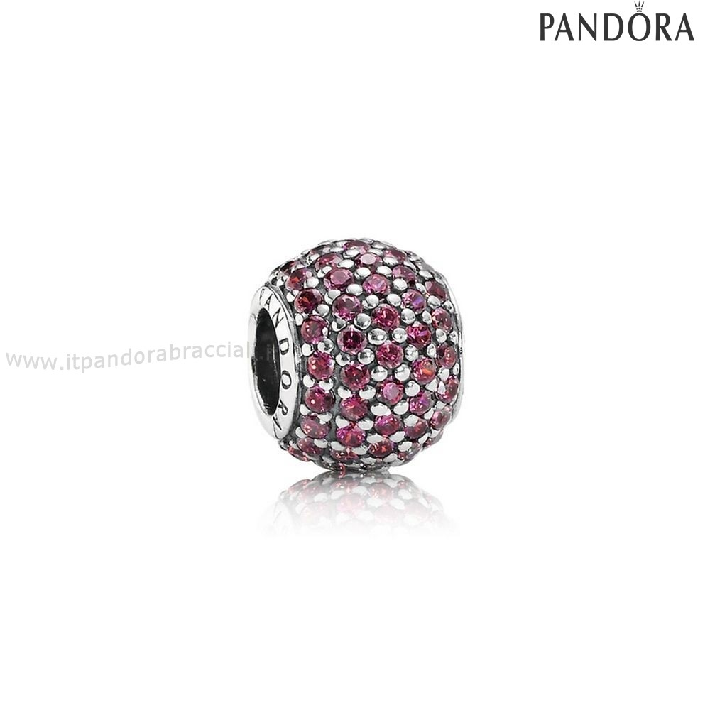 Offerte Pandora Pave Luci Charm Rosso