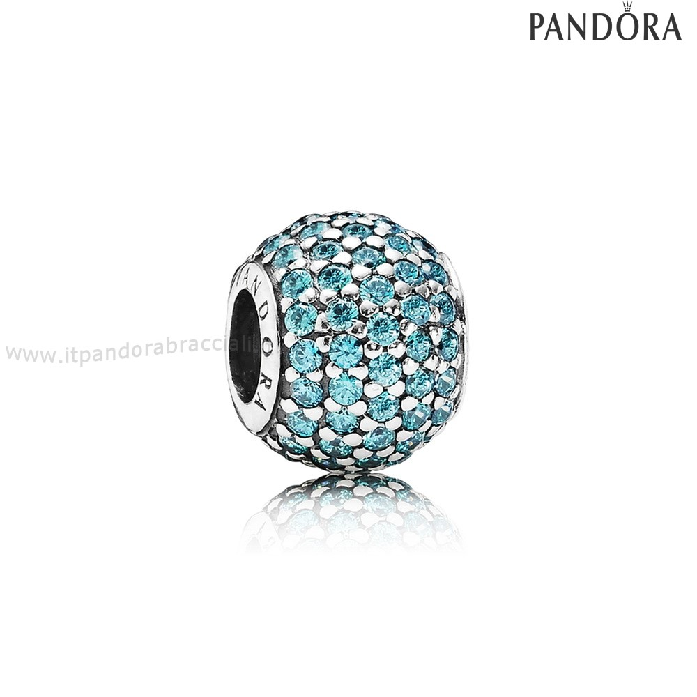 Offerte Pandora Pave Luci Charm Teal Charm