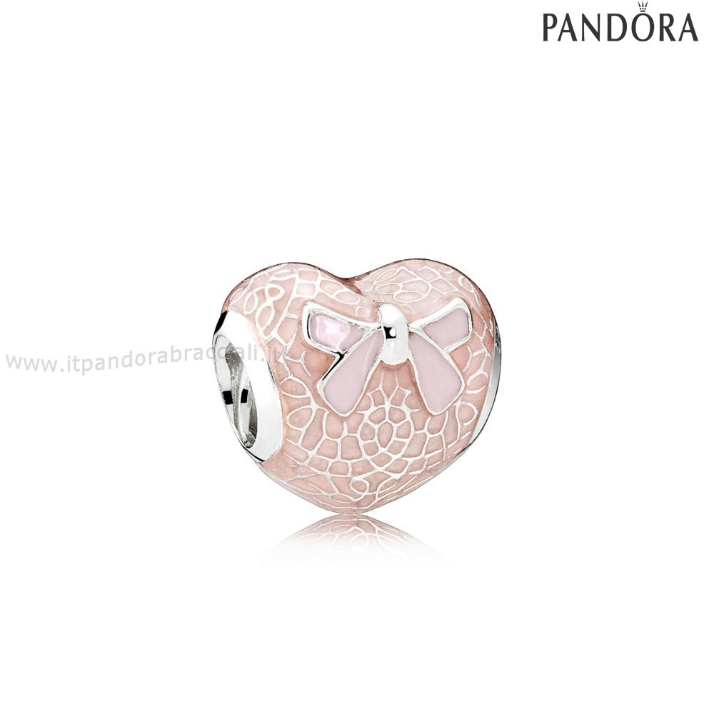 Offerte Pandora Pink Lace And Bow Charm