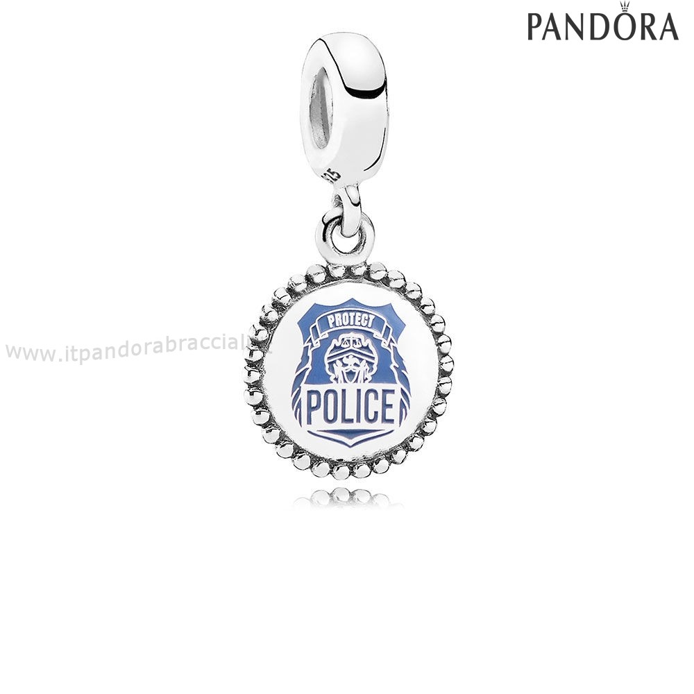 Offerte Pandora Police Dangle Charm Blue Enamel