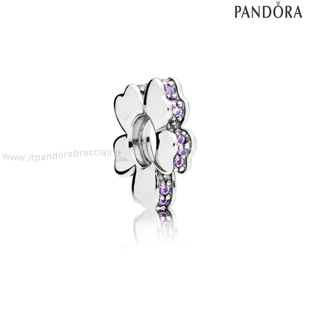 Offerte Pandora Purple Wildflower Prato Spacer Fascino