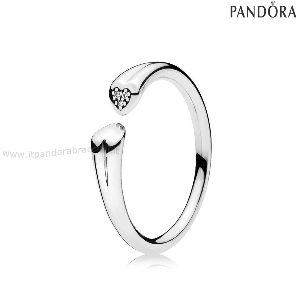 Offerte Pandora Two Cuores Anelli Clear