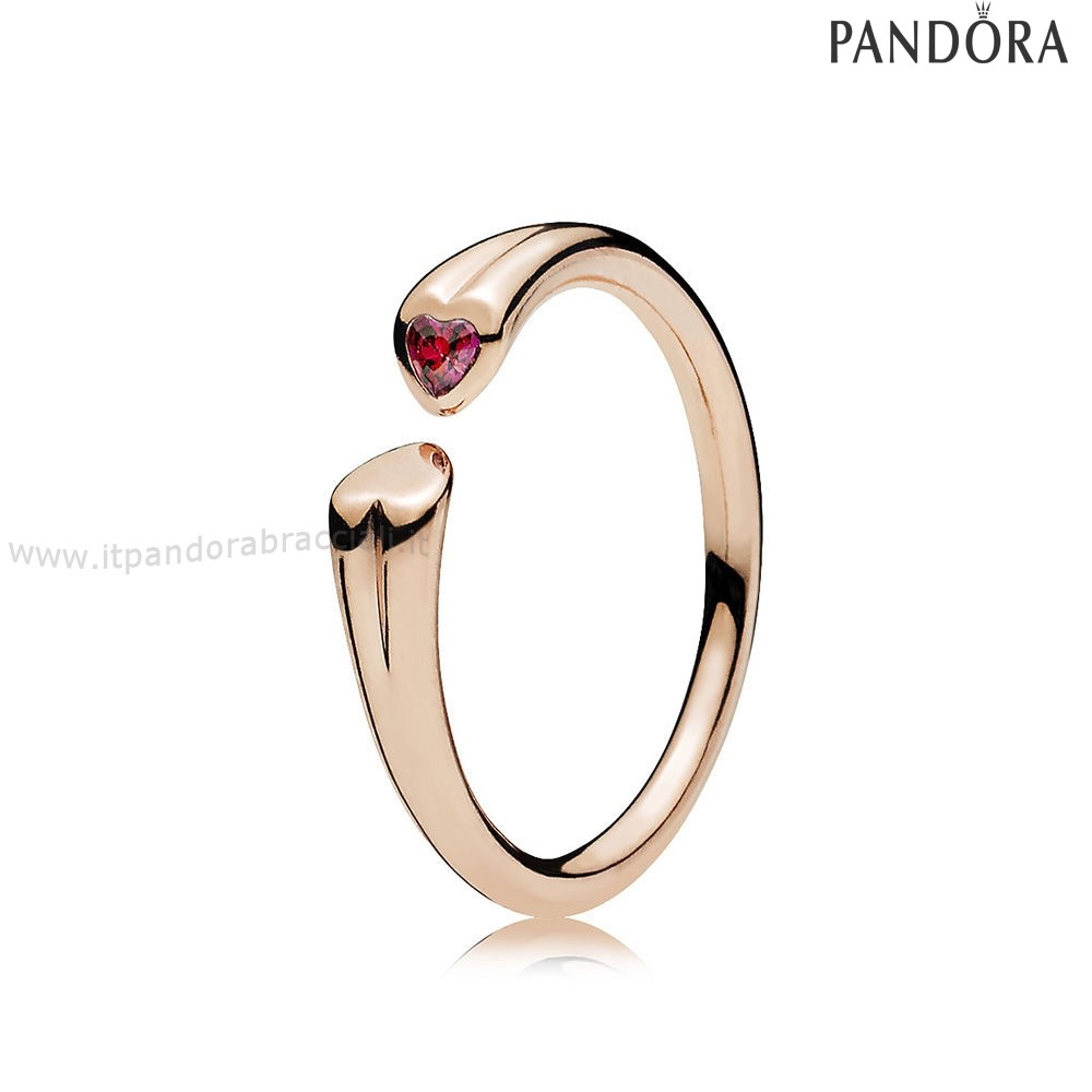 Offerte Pandora Two Cuores Anelli Rose Red Charm