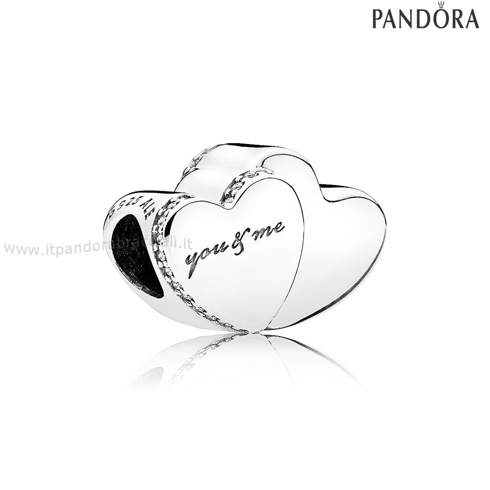 Offerte Pandora Two Cuores Charm Clear