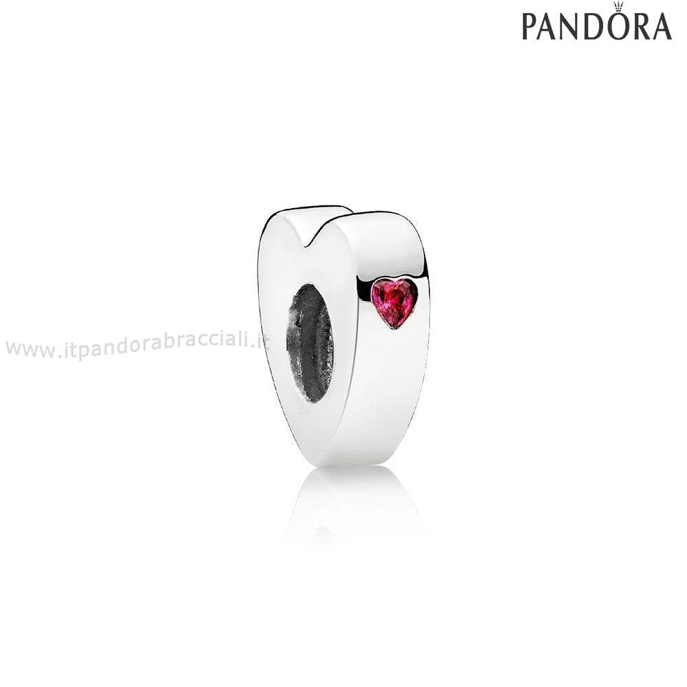 Offerte Pandora Two Cuores Spacer Clear