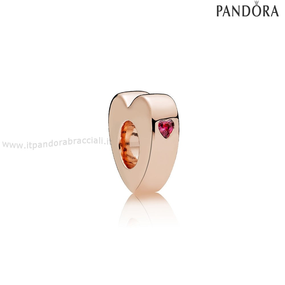 Offerte Pandora Two Cuores Spacer Rose Red